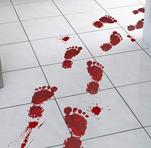 Sgbfz Tapeten-Blutiger Abdruckfußboden Haften An Halloween-Vampirzombie-Partydekorationsaufkleber-Wandaufkleber