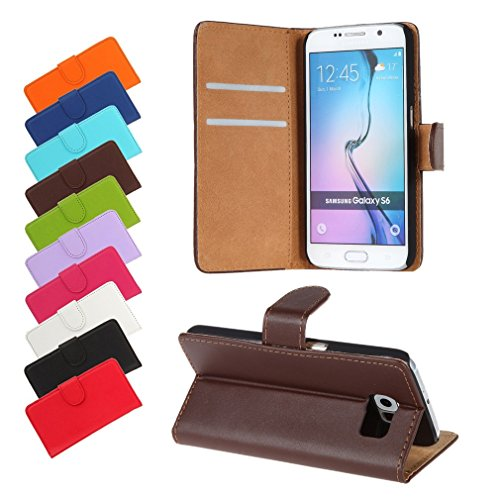 BRALEXX A12642 Bookstyle Tasche für Samsung Galaxy S6 920F braun