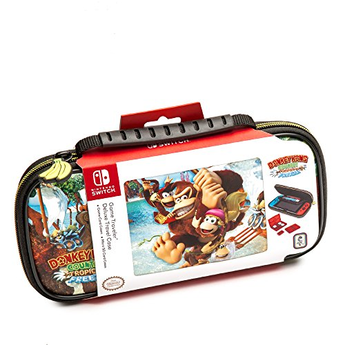 Nintendo Switch Donkey Kong Carrying Case  Protective Deluxe Travel Case  PU Leather Exterior  Official Nintendo Licensed Product