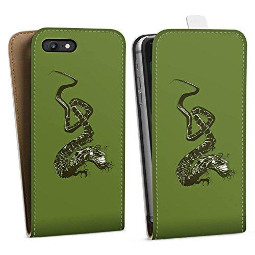 Apple iPhone X Silikon Hülle Case Schutzhülle Drache Tribal Chinesisch Downflip Tasche weiß
