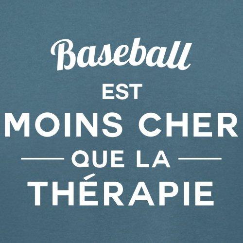 Baseball est moins cher que la thérapie - Femme T-Shirt - 14 couleur Bleu
