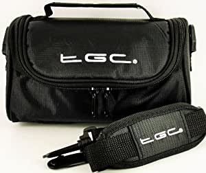 TGC ® Camera Case for Panasonic Lumix DMC-G3K with shoulder strap and Carry Handle (Black)
