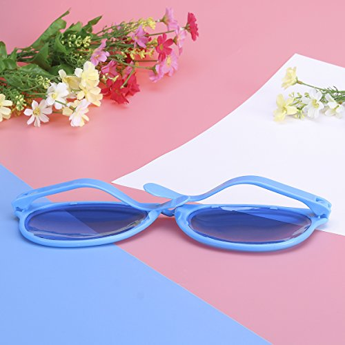 Tinksky Super Oversized Glasses Sun Glasses Party Supplies for Costumes Cosplay Halloween Party Fun Photo Booth Props Blue