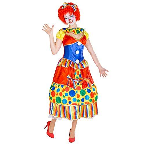 dressforfun Costume da Donna - Clown Fridolina | Meraviglioso abito da ballo | incl. Cerchietto per Capelli con Fiocco (L | No. 300779)