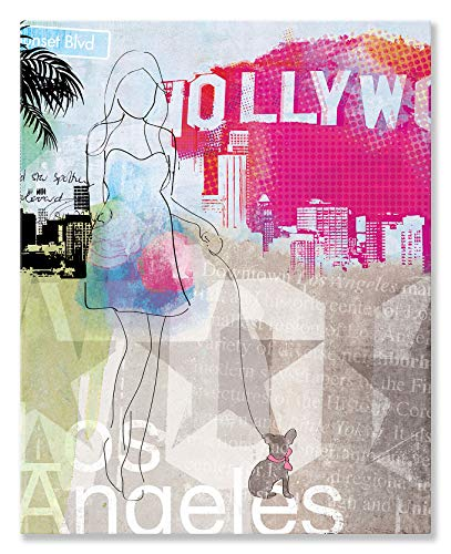 Kleister Art Collective City Girl Los Angeles von Natalie Alexander Leinwand Wand Art, 24 von 30 - City-art-giclee Canvas