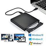 Blingco External CD Drive USB2.0, USB Slim Portable CD-RW DVD-R Combo Burner Player for Laptop, Mac, PC Desktop Computer and Play for Windows 2000 / XP / Vista / Windows 7 Black