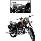 Bigzoom RMC-O Heavy Duty Bike seat Cover Black for Royal Enfield Bullet Electra Deluxe