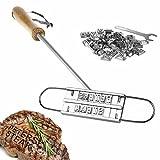 Kitchen Rockstars - Ferro da Marchio per Carne alla Griglia con Lettere Intercambiabili - Stampo in Alluminio con Manico - Regali per Lui - Regali per la Festa del Papà - Regali di Compleanno