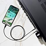 Belkin Rockstar 3.5 mm Audio Cable with Lightning Connector - MFi-Certified Lightning to Aux Cable for iPhone (3 ft/0.9 m - Black)