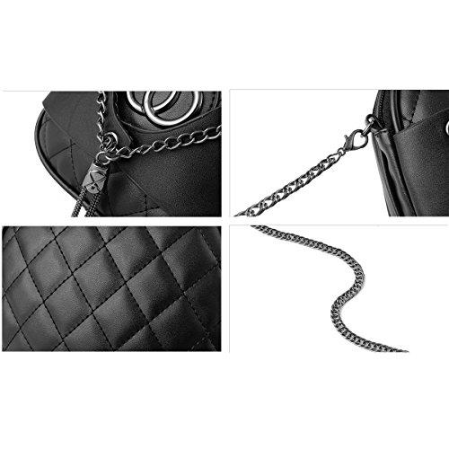 Ruiren Multifunktions Metall Kette Soft Tasche Portable Schultertasche Frauen Messenger Bags Frauen Handtasche Schultertasche Radiergummi Pink