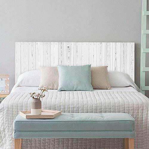 setecientosgramos Cabecero Cama PVC   Whitewood   Varias Medidas   Fácil colocación   Decoración Dormitorio Original (200x60cm)