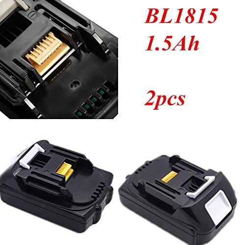 BL1840 Bohrmaschine Akku 18 V 1500 mAh Für MAKITA 194205-3 194309-1 BL1815 BL1830 BL1845 BL1850 BL1860 BL1445 BL1460 18 V 1.5Ah Li-Ion Akku (1500mAh, 2 STÜCKE)