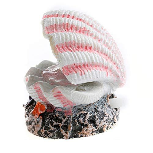 Trifycore Mode-Perlen-Shell Coral Vulkan-Form-Spielzeug Aquarium-Verzierung-Fisch-Behälter-Luftpumpe Sauerstoff Bubble Bomb Ausströmer Antrieb Dekoration, Fisch und Wasserzubehör Mode-verzierungen