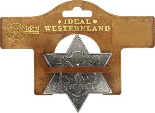 J.G.Schrödel Sheriff-Stern antik: für Cowboy-Kostüme, Ideal für Fasching, grau (711 7781)