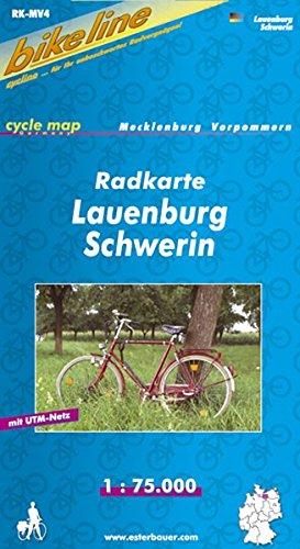 bikeline - Radkarte Lauenburg Schwerin (MV4): GPS-tauglich mit UTM-Netz