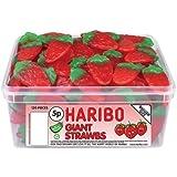 Haribo Giant Strawbs 120 Pieces Per Tub
