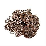 Chytaii Basteln Schmuck Steampunk Gears Schmuck Legierung Vintage DIY Bronze aus Metall Zahnräder Räder Halskette Anhänger für Handgefertigte Schmuckherstellung