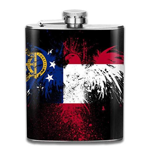 Flag of Georgia Eagle Stainless Steel Flask Classic 7OZ Hip Flask Camping Wine Pot Whiskey Wine Flagon Mug - Georgia Classic-shirt