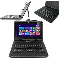 DURAGADGET Funda / Teclado ESPAÑOL Con Letra Ñ Para Tablet Dell XPS 10 / Dell LATITUDE 10 Con Conexión MicroUSB + Lápiz Stylus - Función Atril