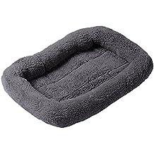 Ltuotu Nuevos llegada 4 colores de moda acaricia la cama admiten Bolster respirables Gatos Perros Animales domésticos Cojín Camas Mats 3 tamaños (Gris, L)