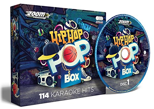 Zoom Karaoke Hip Hop & Rap Pop Box Party Pack - 6 CD+G Box Set - 114 Songs