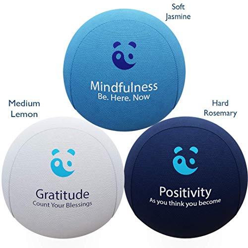 3x Stressbälle für Körper und Geist - AROMATHERAPIE + POSITIVE...