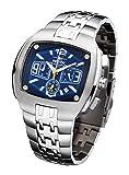 FIREFOX GIANT FFS65-103 blau Chronograph Herrenuhr Armbanduhr massiv Edelstahl Sicherheitsfaltschließe wasserdicht