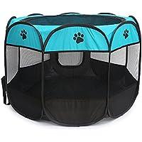 yudodo - tienda de juego pequeña para animales domésticos, de tela de nailon, plegable, para cachorro, conejo, cobaya, de interior