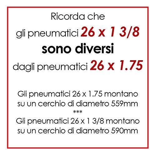 OLANDA 2 COPERTONI BIANCO NERO BICICLETTA 2 CAMERE D/'ARIA 26 X 1 3//8 37-590