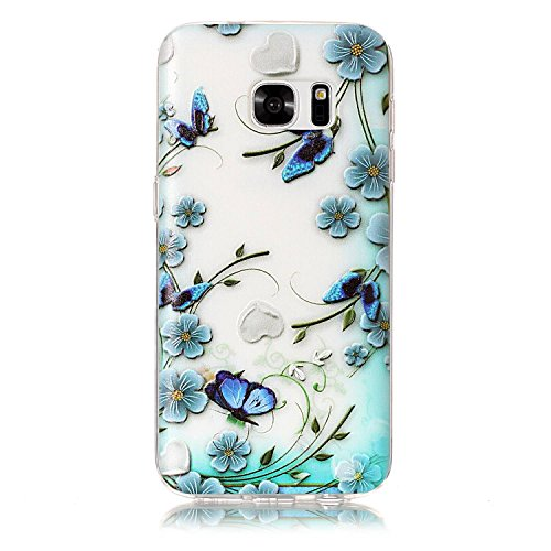 BONROY® Silikon Handy hülle für Samsung Galaxy S7 TPU Gummi Taschen Weich Soft Back cover,Ultra Slim Skin TPU Fall-Abdeckung Protective Bumper für Samsung Galaxy S7