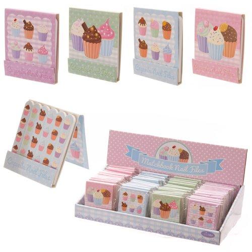Lot de 4 pochettes Limes à ongles Cupcake