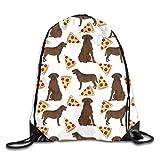Sporttaschen Turnbeutel, Chocolate Labrador Pizza Unisex Multipurpose Drawstring Backpack Bags...