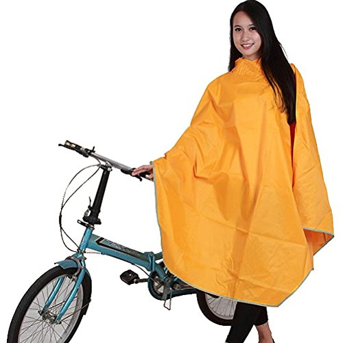 FENICAL Regenjacken Regenponcho wasserdicht regenmantel für die Jagd Camping Freizeit Regenmantel Rain Poncho Fahrrad wasserdicht Poncho (gelb)