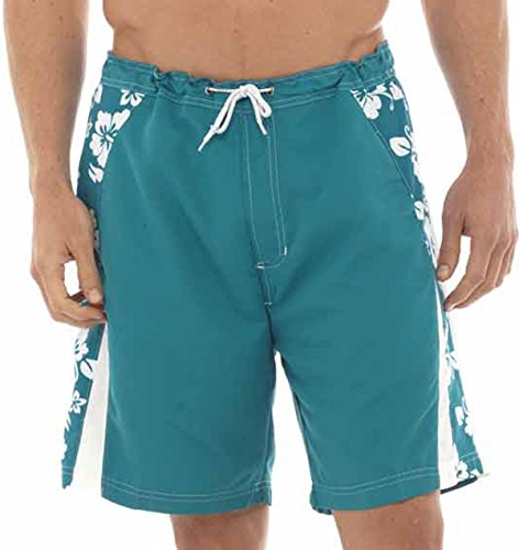 Pantaloncini Costume Da Bagno Da Uomo trunks costume da bagno Con Fiori Lato Stampa Verde