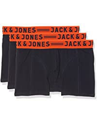 JACK & JONES Jacleicester Trunks 3 Pack, Bóxer para Hombre