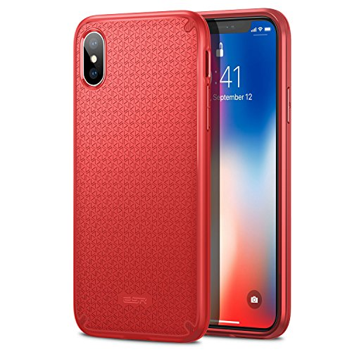 ESR Cover iPhone XS, Cover iPhone X, Custodia Protettiva Kikko con Design Flessibile e Salda Presa [Angoli ad Aria] [Presa Salda] per Apple iPhone XS/X da 5.8 Pollici.