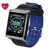 ACZZ Smart Watch, 1.3 inch Bluetooth Full Touch Ip67 Waterproof Heart Rate Sleep Monitor Message Reminder Stopwatch Pedometer Wristband Calorie Tracker,B03