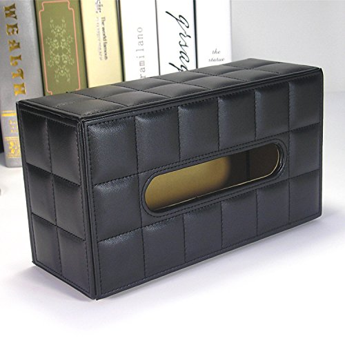 HL-PYL Leder Karton Pu Leder Papier Handtuch Box Creative Home Karton, Weiß