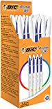 BIC Cristal Up Penne A Sfera Punta Media (1,2 mm) - Blu, Scatola Da 20