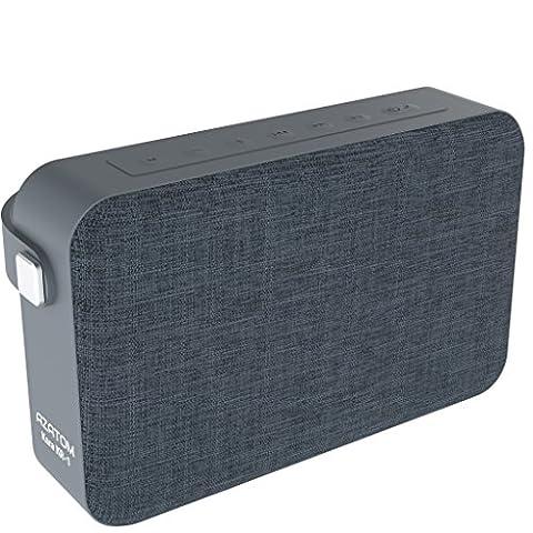 AZATOM Kara K1 Bluetooth speaker - Luxury cloth - Rechargeable - Handsfree calls - Bass woofer - 24 Watts - 20 Hours Playtime - British Designed - GREY