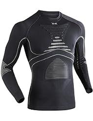 X-Bionic Man Acc Evo UW LG SL - Camiseta funcional Varios colores Charcoal/Pearl Grey Talla:L/XL