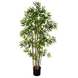 artplants.de Bambú Artificial con 480 pequeñas Hojas, 80cm - Árbol Artificial - Planta Decorativa