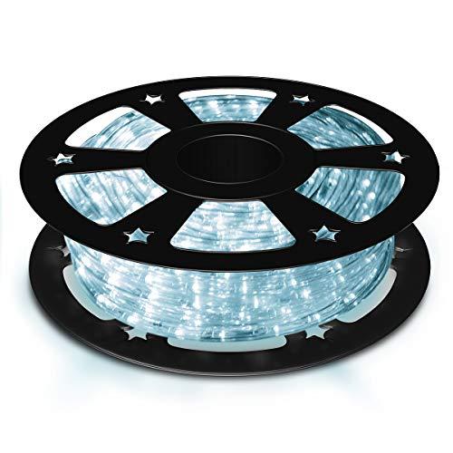COSTWAY 30M LED Lichterschlauch, Lichtschlauch für Außen und Innen, Lichterkette mit 1080 LEDs, Weihnachtsbeleuchtung, Weihnachten Deko(Kaltweiß)
