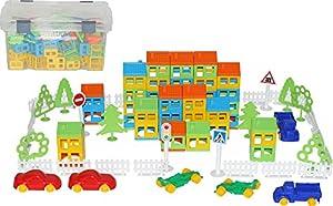 Polesie Polesie56276 - Juego de Juguetes de construcción en contenedor (224 Piezas)