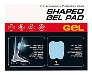 Sidas Shaped Gel Pad Protection tibiale anti-ampoules et anti-chauffements Bleu