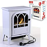Marko Heating Embassy Cream Electrical Fireplace 1.8KW Fire Wood Flame Heater Stove Living Room Burner 1800W