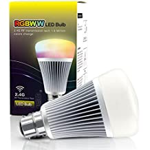LIGHTEU, 8W B22 New design wireless B22 8W 2.4G RF remote control RGBW+CCT LED bulb lights
