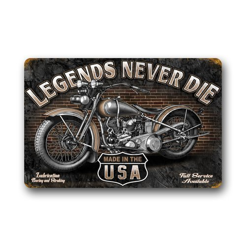 ELQSMTIR Retro Moto Custom Legends Never