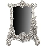 HOUZZPLUS Handicraft White Metal Photo Frame Antique Silver Victorian Style With FloralHand Craving (19 Cm X 1 Cm X 25 Cm, Silver)