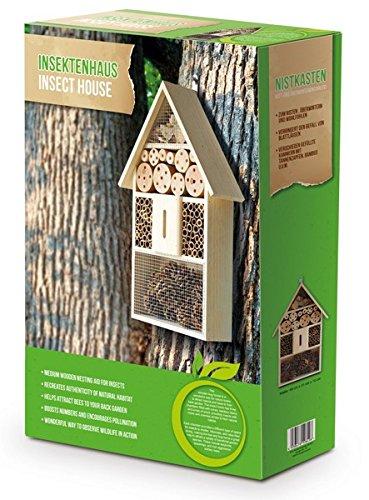 #XXL 50 cm Insektenhotel Natur / Nistkasten Insektenhaus aus Holz für Bienen, Schmetterlinge, Käfer & andere Tiere#